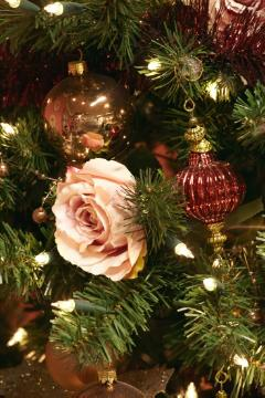 atmosphere, Christmas decoration, Christmas tree ball, Lichter, Roses