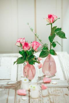 Bellis perennis, glass vase, Heart, Hybrid Tea, Mothers Day, petals, Schnittblume