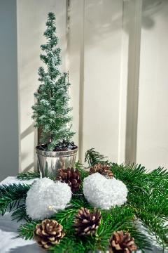 Christmas decoration, Christmas, Picea glauca, pinecone, Reisig, snow