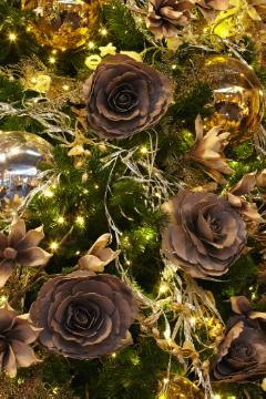 atmosphere, Christmas balls, Christmas decoration, Christmas tree ball, Lichter, Roses