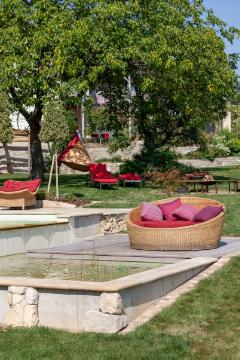 Garden Furniture, pond, terrace