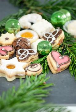 Advent decoration, Christmas cookies, Christmas decoration, Christmas, decoration «Miscellaneous», food «dish», Speisen - Essen