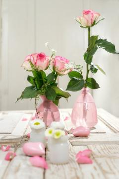 atmosphere, Bellis perennis, Cut Flowers, decoration «Miscellaneous», Hearts, Hybrid Tea, impression, Mothers Day