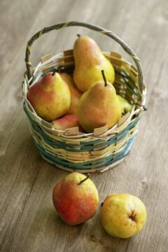 AY Etiket, basket, pear tree