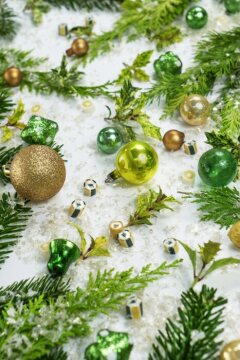 Chamaecyparis (Genus), Christmas decoration, Christmas tree ball, Christmas, Ilex (Genus), white background